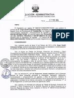 Resolución Administrativa N°285-2013