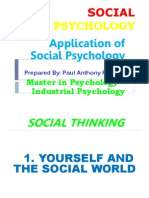 Application of  Social Psychology