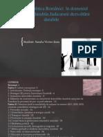 Politica Romaniei in Domeniul Dezvoltarii Durabile. Indicatorii Dezvoltarii Durabile-sandu Victor-ioan