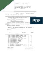 University of Pune - Result for T.E. Exam Nov 2012 for Branch T.E. (2003PAT.) (Civil)