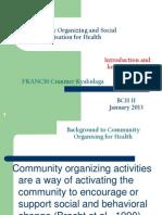 Community Organising for Health 2013