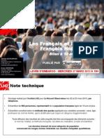 Observatoire de l'opinion - Les Français et l'action de François Hollande - Mars 2013