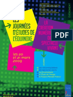 Programme Equinoxe 2009 à Poitiers