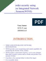 border security using wireless integrated network sensor by vinay kumar IPEC