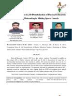 Occupational Stress & Job Dissatisfaction of Physical Education Teachers