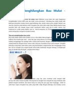 Tulisan 6 Cara Menghilangkan Bau Mulut