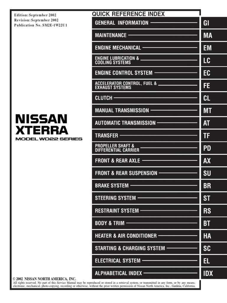 2002 xterra service manual pdf rh scribd com 2004 nissan xterra owners manual download 2004 nissan xterra owners manual download