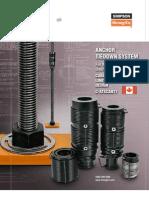 C-ATSCAN11 - Multi-Storey Anchor Tiedown System