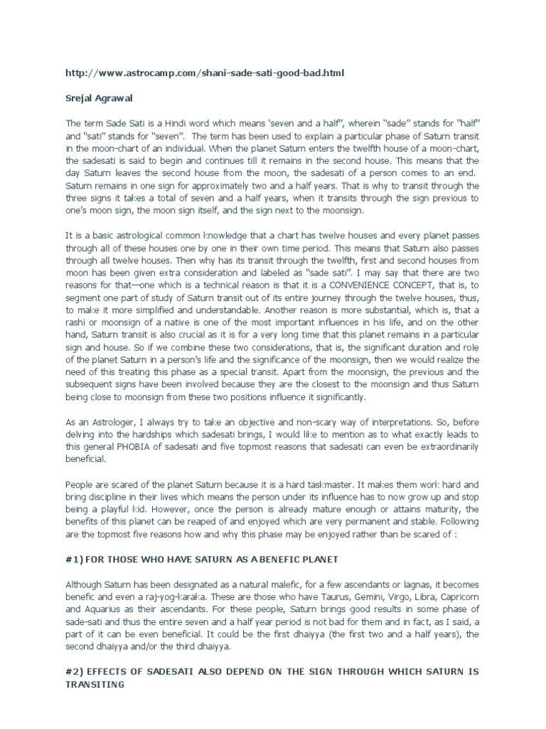Shani Sade Sati docx | Planets In Astrology | Star Symbols