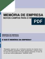 apresentação memória da empresa.ppt