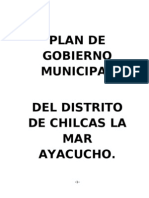 Plan de Gobierno Municipal Chilcas 2011-2014