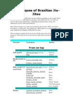 Techniques of Brazilian Jiu