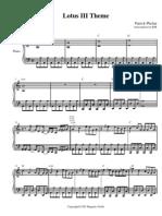 Lotus III Theme (video game sheet music piano)