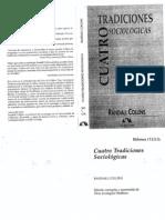 Unidad 1 Randall Collins_Cuatro tradiciones sociológicas