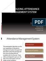 Introducing Attendance Management System