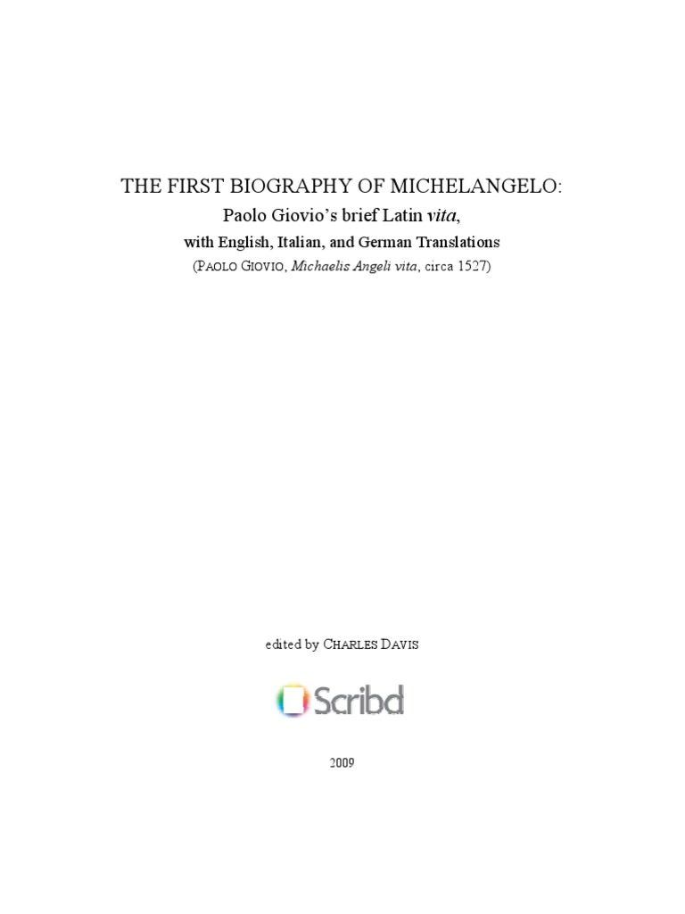 The first biography of michelangelo michelangelo raphael fandeluxe Images