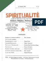 SPIRITUALITÉ « Etre Libre » N° 11 (Octobre 1945)