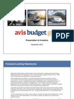 Avis - Investor Presentation - November 2012 FINAL