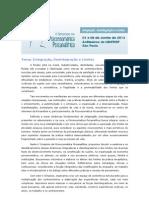 Integração, Desintegração e Limites - Tema do V Simpósio de Psicossomática Psicanalítica