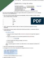 Crear Una Lista Desplegable de Un Rango de Celdas - Excel - Office