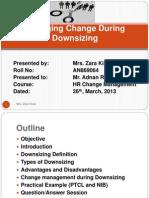Change Management During Downsizing 1