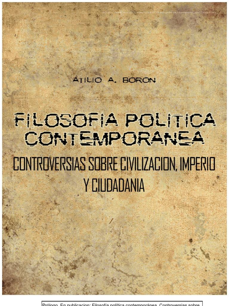 Boron Filosofia Politica Contemporanea