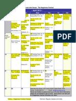 Resonate April 2013 Calendar