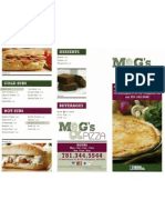 M and G's Pizza Menu