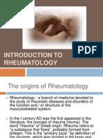 Introducere Reumatologie English