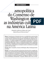 Consenso de Washington e Industrias Culturales Portugues