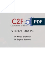 vte dvt and pe lecture c2f - final doc