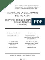 1. Memoria de La Parte Demandante_Equipo 05 (UNMSM)