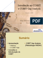 Madah 2006 10 Cobit Intro e Gap[1]