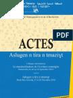 Actes du colloque La standardisation de l'écriture amazighe - Aslugen n tira n tmaziɣt décembre 2010 - HCA 2012