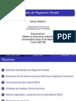 El Modelo de Regresion Simple