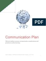 Communication Plan for Online Teaching