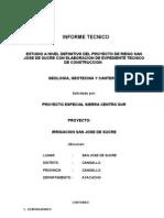 Informe Geología y Geotecnia