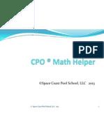 cpo  math helper