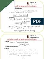 3.5 Aplicaciones de Las Integrales Dobles y Triples
