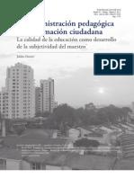 La Administracion Pedagogica de La Formacion Ciudadana