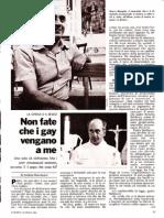 """""""Non fate che i gay vengano a me"""" Parte 1 (L'Europeo, 19 aprile 1982)"""