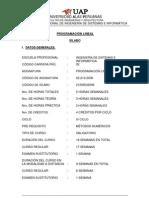 Syllabus Programacion Lineal-Ciclo IV