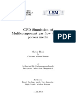 CFD Simulation of Multicomponent Gas Flow Through Porous Media