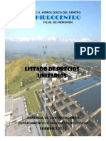 Listado de Precios Unitarios Febrero 2013 Hidrocentro