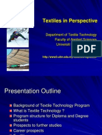 TEXTILE TECHNOLOGY PROGRAMME - UiTM
