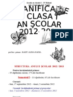 0 0 Planificare Clasa i