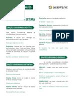 Português - Aula 07 - Análise sintática externa