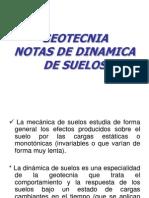 Geotecnia. Notas de Dinamica de Suelos