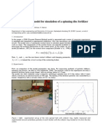 A discrete element model for simulation of a spinning disc fertilizer