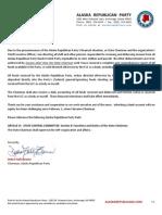 Chairman Debbie Brown - ARP Notice - Spending Freeze
